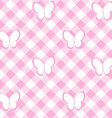 Baby girl background with tablecloth and vector image