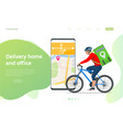 bicycle courier express delivery service courier vector image