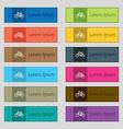 Bicycle icon sign Set of twelve rectangular vector image vector image