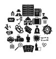 blame icons set simple style vector image vector image