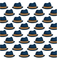 blue and yellow hat father day seamless pattern vector image