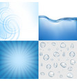 blue water backgrounds set vector image vector image