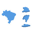 brazil isometric map country isolated on a white vector image vector image