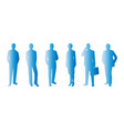 Business people blue symbol icon set