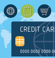 buy on line with credit card vector image vector image
