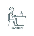 canteen line icon canteen outline sign vector image