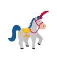 circus horse cartoon vector image