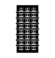 contour apartment building line sticker vector image vector image