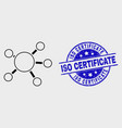 Contour node links icon and distress iso