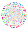 decoration stars festival round cluster vector image vector image