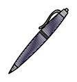 doodle classic pen design tool object vector image vector image