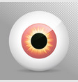 eye red realistic 3d eyeball irispupil icon vector image
