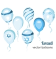 Flag of Israel on balloon Israeli balloons vector image vector image