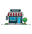 flat design barber shop vector image