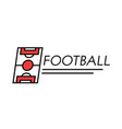 football banner linear icon with typography vector image