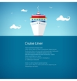 Front View of the Cruise Ship Poster vector image vector image