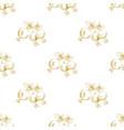 golden sketch briar decor seamless pattern vector image