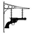 gun store sign vector image vector image