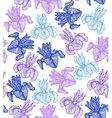hand-drawn iris background vector image vector image