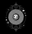 hand drawn realistic of moon surreal artwork with vector image
