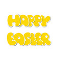 happy easter design isolated on white background vector image