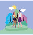 happy friendship day flat design vector image vector image
