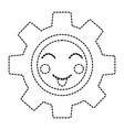 happy gear kawaii icon image vector image vector image