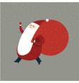happy santa claus with gift sack vector image vector image