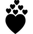 heart icon logo heart icon sign vector image