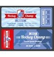 Hockey sports ticket card modern design vector image vector image