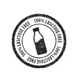 lactose free grunge rubber stamp on white vector image vector image