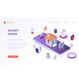landing page for smart home vector image vector image