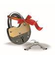 Lock with ribbon vector image