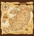 map treasures paper parchment pirate treasury vector image