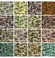 mega set seamless camouflage pattern vector image vector image
