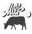 milk cow vector image
