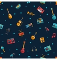 modern flat design musical instruments and music vector image vector image
