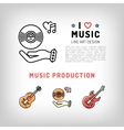 Music production and producing vinyl record vector image vector image