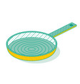 outline isometric pan isolated on white kitchen vector image