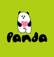 panda love template vector image