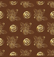 pattern of roses bouquets vector image vector image