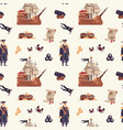 pirate pattern cartoon seamless texture with vector image