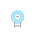 proof of award thin line stroke icon proof vector image