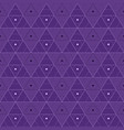 purple triangles seamless pattern vector image