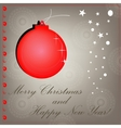 red christmas background cut paper design vector image vector image