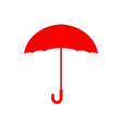 red umbrella isolated accessory of rain on white vector image