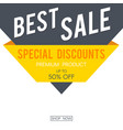 sale banner for web internet store vector image vector image