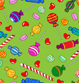 Seamless candy pattern vector image vector image
