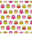 seamless pattern of gift box background vector image vector image