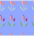 seamless pattern tulips vector image